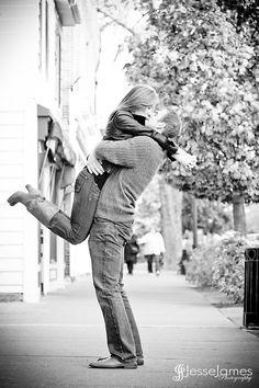 Engagement shoot #Engagements #kissing #Happy