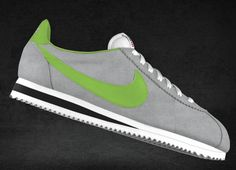 Grey & Lime  I still miss my kelly green/white leather Nike Cortezes!