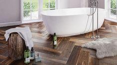 Płytki jak drewno z kolekcji Legnoart marki Ceramica Marconi Clawfoot Bathtub, Bathroom, Wood, Crystal, Street, Washroom, Woodwind Instrument, Full Bath, Timber Wood