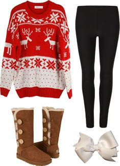 """""""Tacky Christmas Sweater Party!"""" by classically-preppy ❤ liked on Polyvore"""