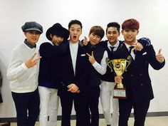 """Congratulations to BTOB for taking No. 1 on """"Show Champion""""! The competition was fierce this week, BTOB having beennominated alongside Super Junior's Kyuhyun, Girls' Generation's Taeyeon,Zion.T, and iKON. Nevertheless, BTOB triumphed, grabbing their first music show trophy since their debut in 201..."""