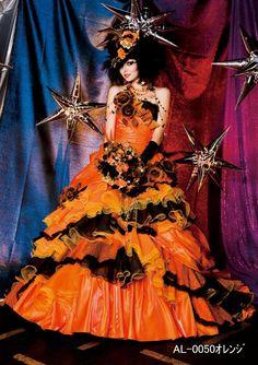 オレンジドレスの大人スタイル | ブライダルコレクション オズ