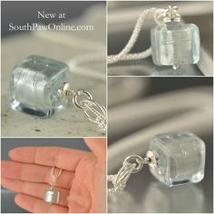 Venetian Glass with sterling silver chain at http://southpawonline.com