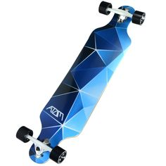 Show off your style and skills at the skate park with this drop-through longboard. This board comes pre-assembled, allowing you to take advantage of its fine features as soon as it arrives at your doo