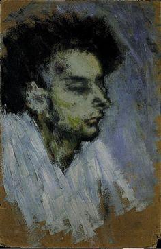 """Pablo Picasso - """"Casagemas mort [Le suicide]"""". 1901"""