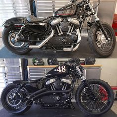 Time to Ride! by ninetynineproblems_ Harley Sportster 48, Sportster Cafe Racer, Sportster Motorcycle, Sportster Iron, Triumph Bobber, Cafe Racer Bikes, Harley Bikes, Cruiser Motorcycle, Harley Davidson Custom Bike