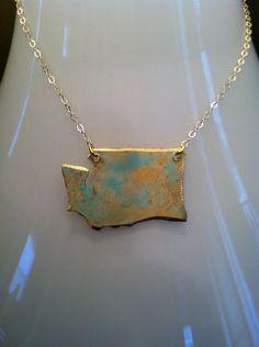 Handcrafted Brass Washington Pendant by NINOTCHKAgoods on Etsy, $49.00