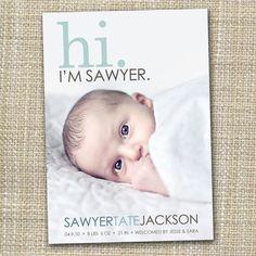 Foto Geburtsanzeige - Hallo. Ich bin