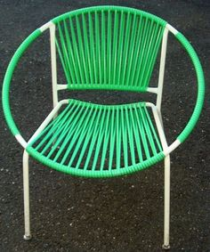 Fun and bright retro hoop chair. Perfect to add some punch to your patio!