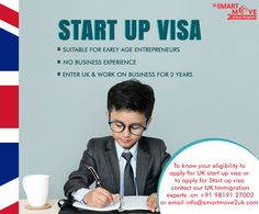 Recognizing the importance of start-ups and their wealth generation potential, the UK introduced a new category of visas solely to allow founders to set up UK based businesses.  If you want to know more about UK Start-Up Visa or need assistance in your Visa Application, you can call/Whatsapp our UK Immigration Experts based in Mumbai | New Delhi | Chandigarh | Bangalore | London on +91 9819127002 | email info@smartmove2uk.com or you can also BOOK AN ONLINE CONSULTATION. Mumbai News, Chandigarh, About Uk, Wealth, Knowing You, Entrepreneur, How To Apply, London, Business