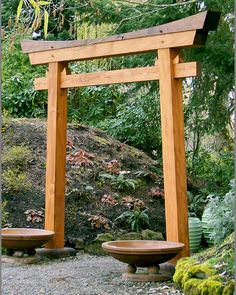Torii, freshly crafted from traditional design.