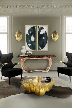 Infinity is a wood top modern console table with distinguished veneer work. A big and luxurious living room set deserves a piece like this spreading GLOW all over the place.
