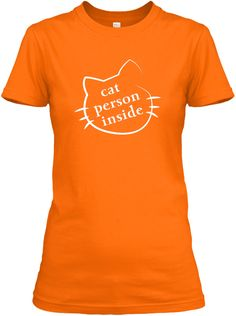 Love Cat Orange T-Shirt Front