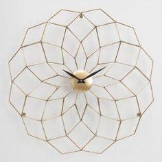 Wyatt Geometric Wall Clockworld market