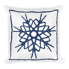 This white and blue design will add colour to your space, creating the perfect vibe to your pre-shrunk polyester caseMoisture-wicking fabric with a linen feelHidden zipperMachine-washable caseShape-retaining polyester insert included (handwash only) Blue Pillows, Throw Pillows, Blue Design, Your Space, Handmade Items, Shapes, Zipper, Colour, Embroidery