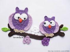 Letras e Artes da Lalá: coruja de crochê