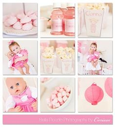 25 custom cake topper for Munchs baby doll party Kids Party