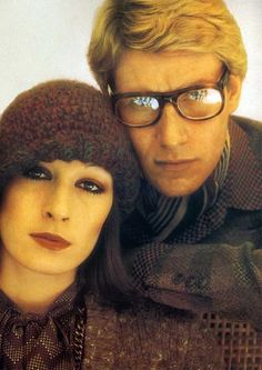 Yves St Laurent and Anjelica Huston photographed by David Bailey.