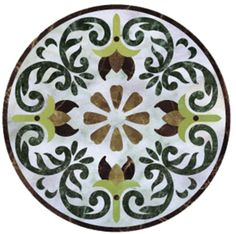 Chinese stone water jet marble medallions