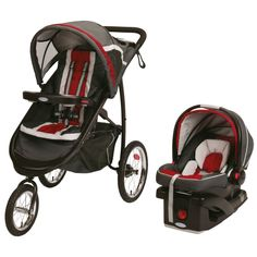 Graco Fastaction Jogger Stroller Car Seat Travel System Folding Baby Red New  47406132799 | eBay