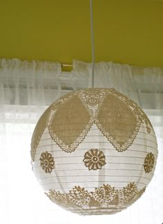 The Gahan Girls: Before and Afters  A take off on The lace doily lamp...