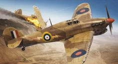 Hawker Hurricane Mk I Tropical by Adam Tooby Air Fighter, Fighter Pilot, Fighter Jets, Ww2 Aircraft, Fighter Aircraft, Hawker Hurricane, War Thunder, Aircraft Painting, Airplane Art