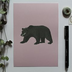 This print is perfect for adding a splash of colour to your room. You can also enjoy the grandeur of the big brown bear - what a beautiful creature! #print #design #drawing Big Brown, Bear Print, Brown Bear, Color Splash, Print Design, Moose Art, Creatures, Colour, Drawings
