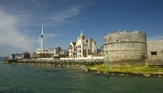 The Round Tower is one of Portsmouth's oldest permanent fortifications. Portsmouth England, Portsmouth Harbour, Round Tower, Close To Home, Fortification, Hampshire, Exploring, Taj Mahal, Past