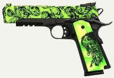 Shop Iver Johnson Eagle LR Zombie Semi Auto Handgun ACP Barrel 8 Rounds Zmbie Engraved Grips Matte Black Frame and more from Cheaper Than Dirt! Weapons Guns, Guns And Ammo, Airsoft, Zombie Guns, Zombie Tools, Armas Ninja, 1911 Pistol, Custom Guns, Cool Guns
