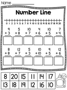 First Grade Math Unit 8 | Worksheets, Math and School