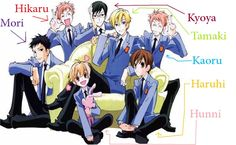 Who's who in Ouran Highschool Host Club