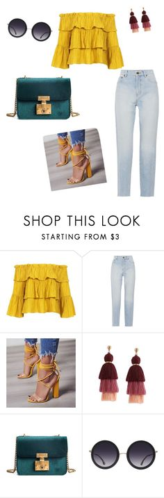 """Springing"" by thulani02 on Polyvore featuring Sans Souci, Yves Saint Laurent and Alice + Olivia"