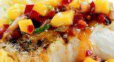 Bonefish Grill's Mango, Craisins,& Tomato Salsa over Grouper (any mild whitefish will work). Yum...love this!