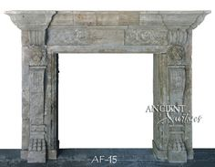 A stunning antique fireplace face by Ancient Surfaces. Learn more by visiting our Stone fireplaces page here: http://www.ancientsurfaces.com/Antique-Fireplaces.html