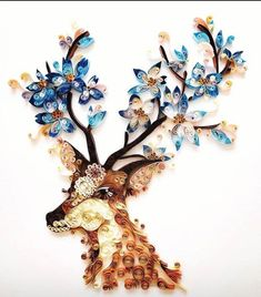 Cool animal paper quillingYou can find Paper quilling and more on our website. Neli Quilling, Quilling Images, Paper Quilling Flowers, Paper Quilling Patterns, Paper Quilling Jewelry, Origami And Quilling, Quilled Paper Art, Quilling Paper Craft, Quilling Ideas