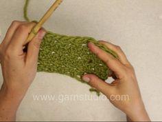 DROPS Crochet Tutorial: How to crochet Lemon peel texture