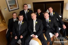 We love this great photo of the groom and his groomsmen as they finished getting ready for the wedding ceremony. www.CrystalBallroomNJ.com. Photos courtesy of Abella Studios. #bride #groom #wedding #marriage #CrystalBallroom #NJWeddings #CentralNJWedding #freeholdnj #nj #weddingdress #husband #wife #banquethall #venue