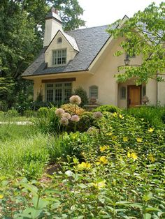 french country cottage | Soft french country cottage stucco color blends so well with nature it ...