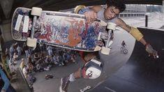 Take a look at the photographers who captured skateboarding's journey from public menace to mainstream pastime, including Glen E. Friedman, Spike Jonze and Dobie Campbell. Skateboard Shelves, Spike Jonze, Skateboarding, Photographers, Take That, Bags, Style, Handbags, Skateboard