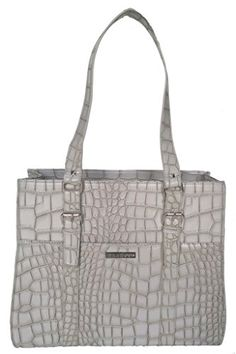 Pouchee Melbourne Tabee Women's Tote Bag: Pewter Croco * Additional details @