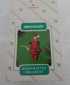 Vintage Christmas heathcliff ornament 1986