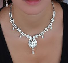 Hey, I found this really awesome Etsy listing at https://www.etsy.com/listing/153830262/bridal-necklace-earrings-set-bridal