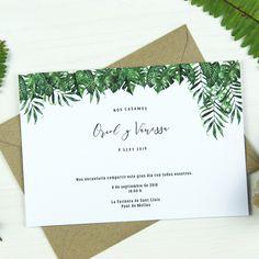 Invitación de boda GUAIMACA Summer Of Love, Place Cards, Place Card Holders, Wedding Invitation Design, Floral Wedding Invitations, Weddings