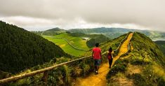A walk to Heaven !! It is very rare to get a clear view at this amazing place in Eastern part of Sao Miguel, Lagoa do Canario. The view once you reach at the end of this walk way is out of this world. On a clear day, you get to see 5 lakes of Sao Miguel from a single spot. On A Clear Day, Azores, Out Of This World, Lakes, The Good Place, Islands, Heaven, Country Roads, How To Get