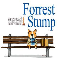forest stump #corgi