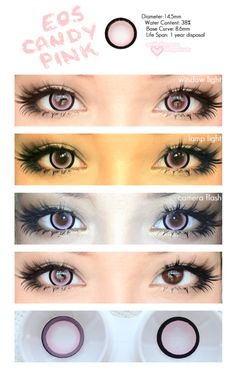 circle lenses, coloured contacts, circle lens, big eye contacts. Korean pretty lenses from EyeCandys