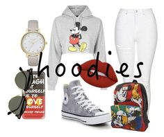 """Heads Up! Cute Hoodies"" by xo-kmy-ox ❤ liked on Polyvore featuring Topshop, Casetify, Ray-Ban, Kate Spade, Lime Crime, Converse and Vans"