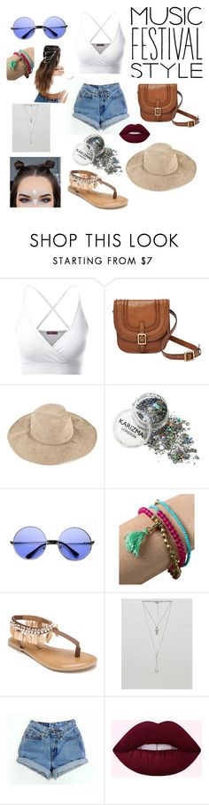 """Music Festival Style"" by freya-kitt ❤ liked on Polyvore featuring Doublju, FOSSIL, ZeroUV, Me to We, Penny Loves Kenny, ASOS and Levi's"