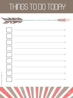 Free printable task list