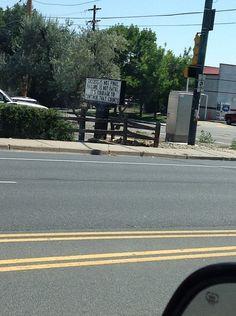 Most read sign in Arvada, Colorado